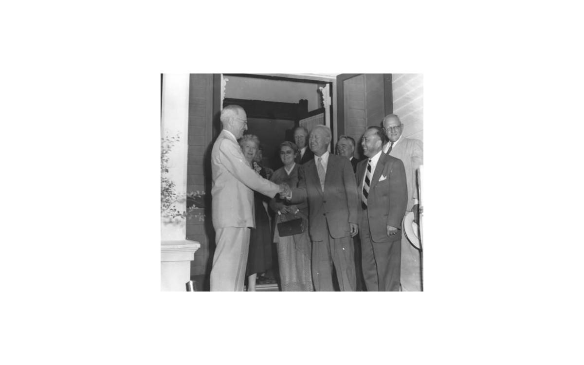트루먼 전 대통령과의 만남<br />