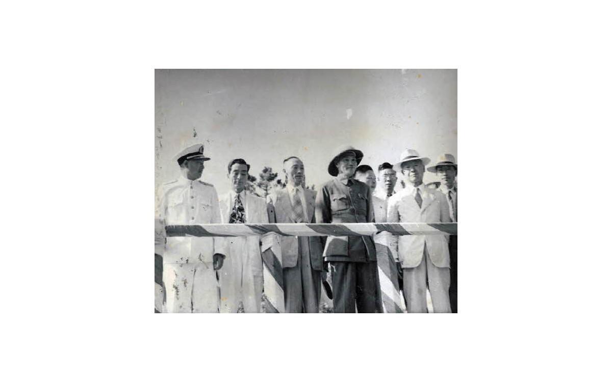 장개석 총통의 진행 방문 영접 (1949년)<br />