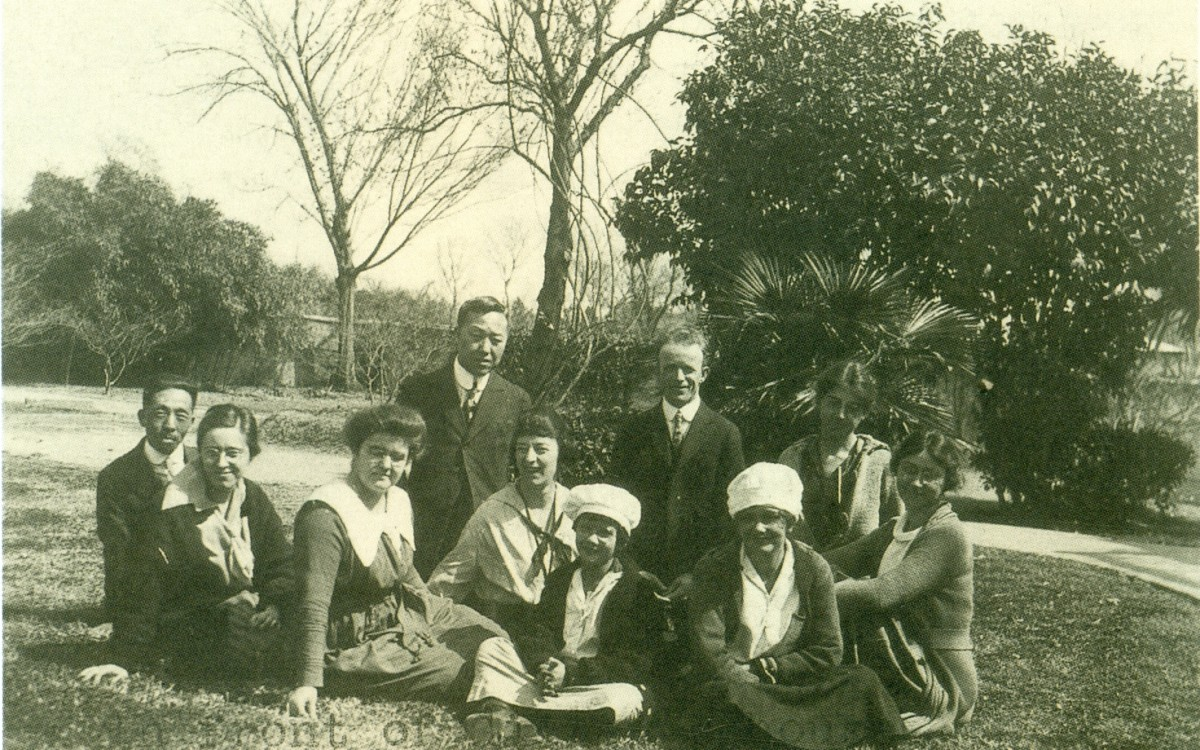 이승만 남경 방문시 질레트(P. L. Gillett) 목사와 선교사들 (1921년 3월 9일)<br />
