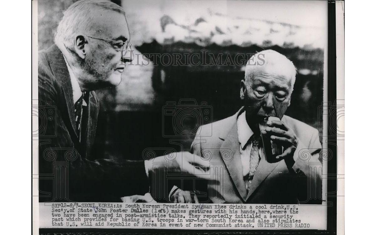 존 포스터 덜레스와 함께 (1953년)<br />