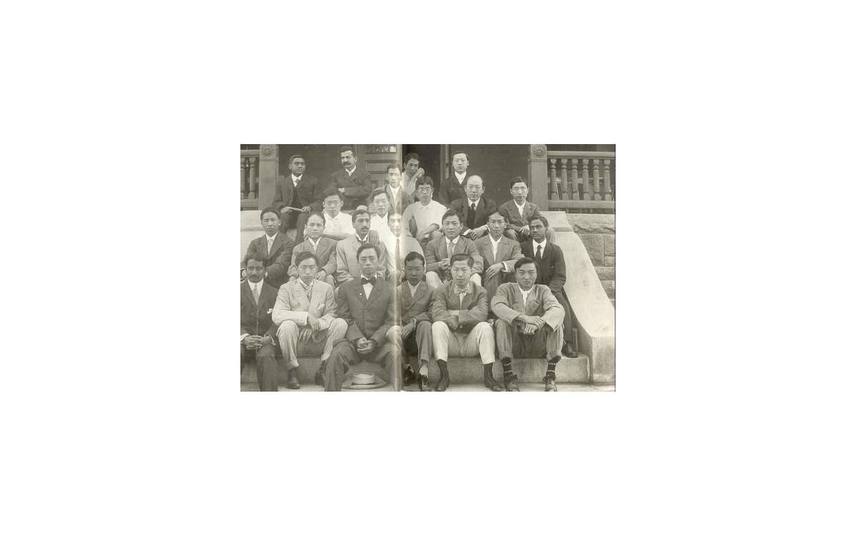 1906년 여름 매사추세츠주 노스필드에서 열린 만국 [기독]학도공회에 참가했을 때<br />