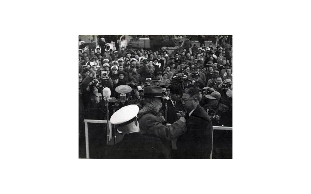해군 창설 제10주년 기념식장 (1955년)<br />