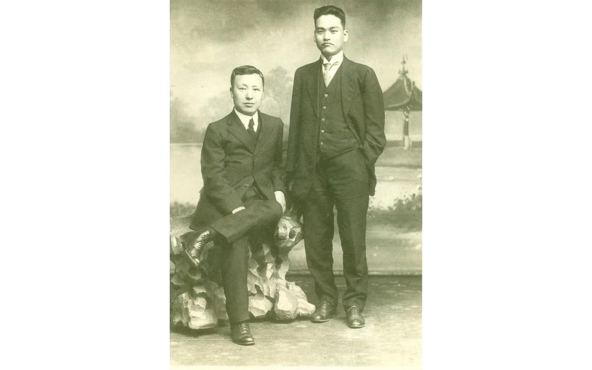 상해에서 이승만과 신익희 (1921년)<br />