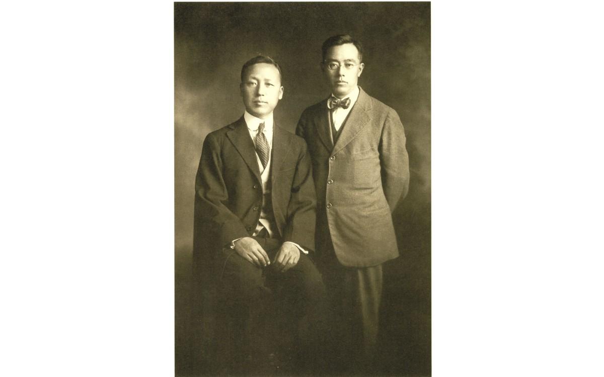 집정관총재(대통령) 이승만과 구미위원부 위원장 김규식 (1919년)<br />