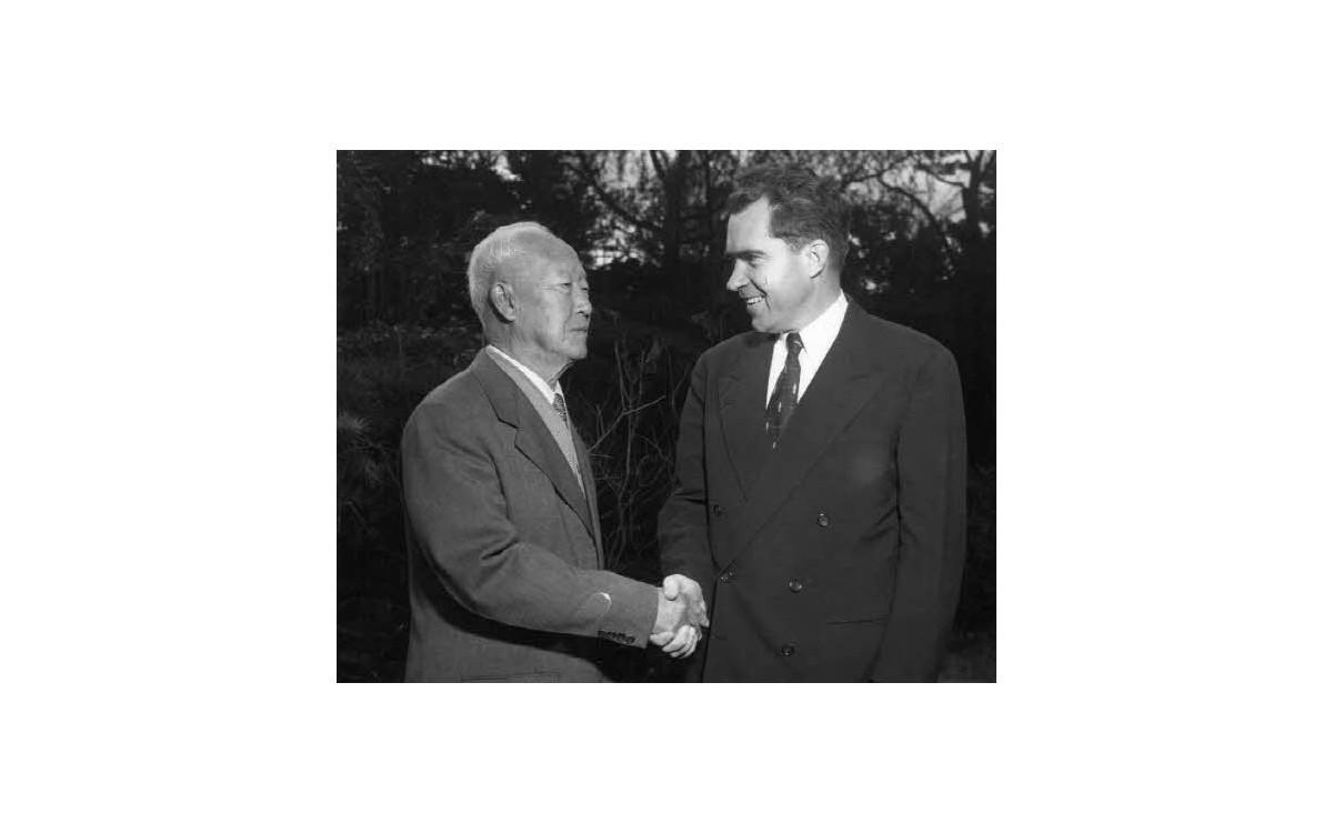 닉슨 미국 부통령과 함께 (1953년)<br />